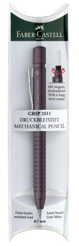 Faber-Castell 131261 - Druckbleistift Grip 2011, Minenstärke: 0.7 mm, Schaftfarbe: braun