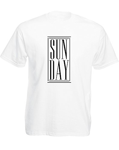 Brand88 - Brand88 - Sun Day, Mann Gedruckt T-Shirt Weiß/Schwarz
