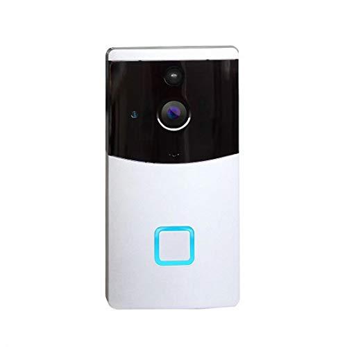 Sabulike Intelligente sichtbar Türklingel Wireless Wifi Netzwerk Startseite Fernbedienung Fernbedienung Talkback Türklingelkamera, Weiß