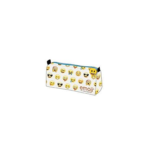Emoji Perletti 13626 - Estuche escolar con cremallera estampado Emoji, 9 x...