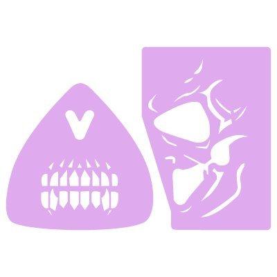 Stencil Fantasie Make Up Gesichtsbemalung 004. Stencil Grösse: 20 x 30 cm Figur Grösse 1: 7,1 x 9,7 cm Figur Grösse 2: 9,1 x 14,6 (Up Gesichts Schädels Make)
