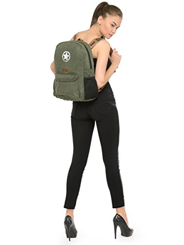 Best canvas backpack in India 2020 The House Of Tara Rugged Unisex Laptop Backpack (Moss Inexperienced) HTBP 164 Image 2