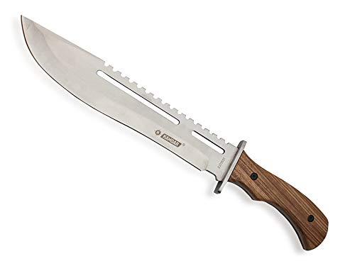 KOSxBO® XXL Outdoor Messer mit Säge 40,5 cm Full Tang Messer Holzgriff Arbeitsmachete - Buschmesser Machete - Survival Machete inklusive Nylontasche -
