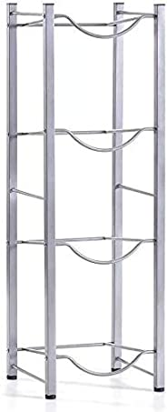 Water Bottle Storage Stand, 35X105 CM (Silver Four Gallon Rack) by Pallam
