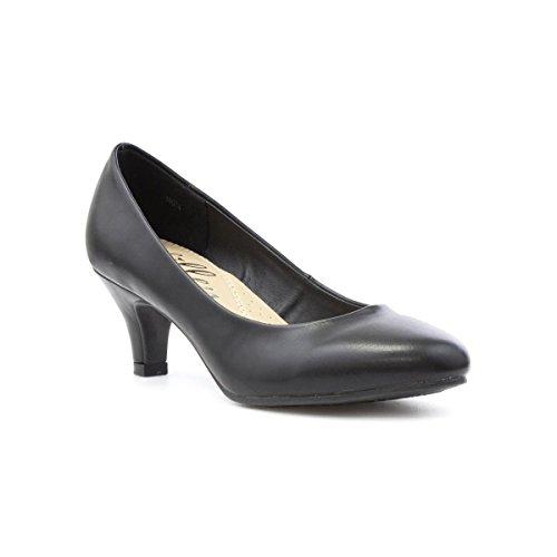 8551318fda27 Lilley Womens Black Heeled Court Shoe - Size 7 UK - Black