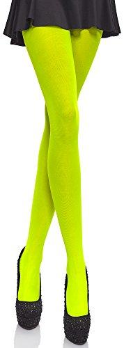 Merry Style Bunte Damen Strumpfhose Microfaser 40 DEN (Neongelb, 1/2 (30-36))