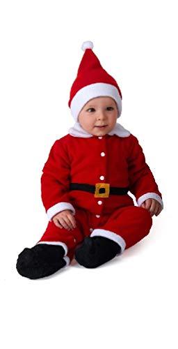 Fair Vestitino Babbo Natale con Cappellino Adatto 12 / 18 Mesi Tutina Natalizia