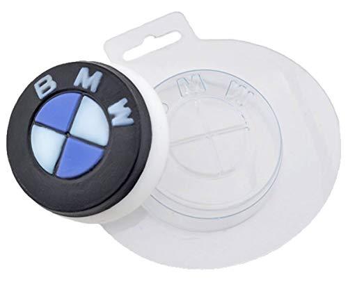 1pc Auto -Geschenk-Runde Kunststoff-Soap-Herstellung von Schimmel-Geschenk für Sie Für Ihn Form 68x68x25mm
