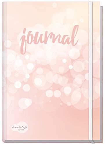 Bullet Journal dotted A5 mit Gummiband [Dreamy] von Trendstuff by Häfft | Notizbuch, Tagebuch - stilvoll, robust, biegsam, abwischbares Cover -