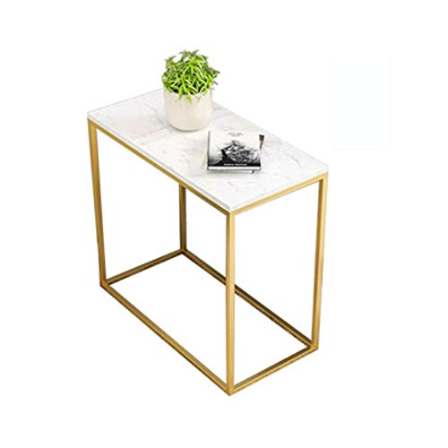 End Tables Small Side Table Marble Gold Wrought Iron Coffee Table