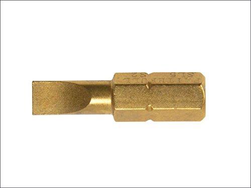 Faithfull - Titan Schraubendreher Bits Schlitz 6mm x 25mm Pack 3 - FAISBSL6 - Faithfull Screw