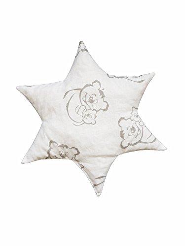 Linden 36153Coussin noyau de cerise étoile Design ours gris