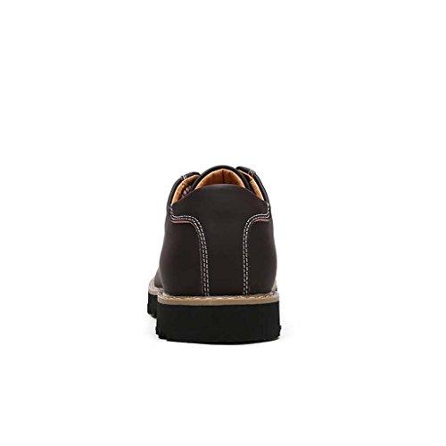 ZXCV Scarpe all'aperto Pattini di cuoio neri del nuovo modo di modo degli uomini vestito convenzionale formale Marrone scuro