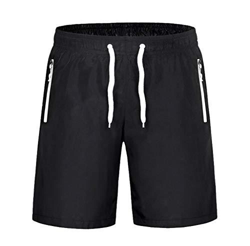ZIYOU Herren Shorts Boardshorts Badeshorts Beachshorts Schwimmhose Männer Leisure Sport Shorts(Weiß,4X-Large)