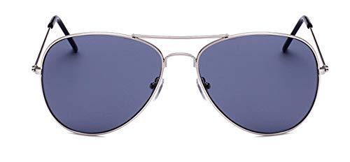 WSKPE Sonnenbrille Aviator Sonnenbrille Brillengestell Piloten Sonnenbrille Frauen Männer Damen Brille Blaue Linse