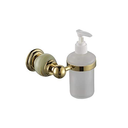 Europäischer manueller Jade-Seifenspender, an der Wand befestigte Pumpe des Hotel-Toilettenartikels zur Handdesinfizierer-Flasche, Haushalts-Badezimmer-Shampoo-Duschgel-Unterflasche Badezimmer-Hardwar