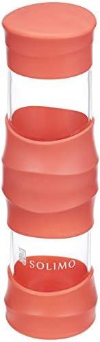 Amazon Brand - Solimo Borosilicate Glass Sports Bottle, 470 ml, Orange