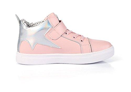 Mädchen Skateboardschuhe Schnürer Nette Schnellverschluss Strassstein Frühling Sportschuhe Pink