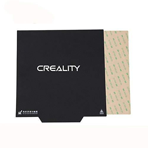 XuBa 310 x 310 mm flexibler Magnet Bauoberflächenplatte beheizte Bettteile magnetischer Aufkleber mit Griff für Creality CR-10 3D-Drucker