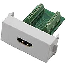 Adaptador hembra HDMI v1.4 n86-600k soldadura libre de zócalo del módulo de pared de soporte del panel 3d - blanco + verde