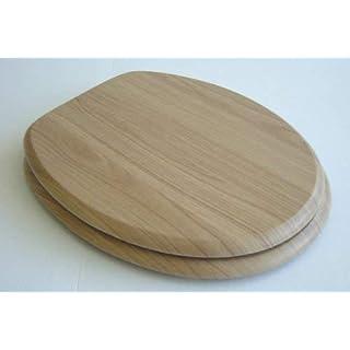 ADOB Toilet Seat with Wooden Core Walnut messingverchromten 85308 and hinges(random models)