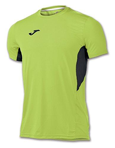 Joma-Maglietta Record Verde Fluor-Negro M/C per Uomo, Unisex Adulto, 100283.021.XL, Verde-Nero - 021, XXL