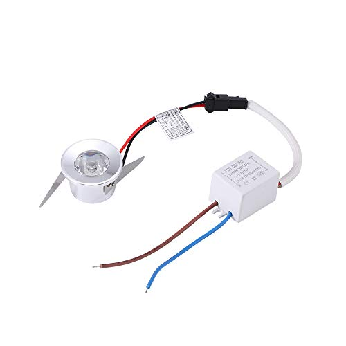 1W LED Luz de techo LED Mini proyector empotrado Focos de mazorca...