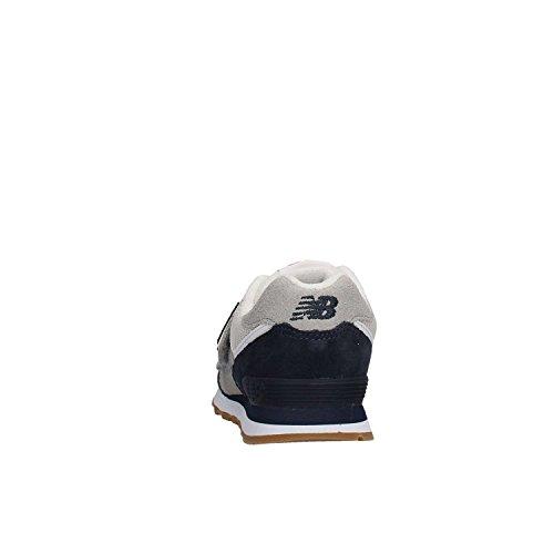 New Balance Kv574czy M Hook and Loop, Scarpe da Ginnastica Basse Unisex – Bambini BIANCO BLU
