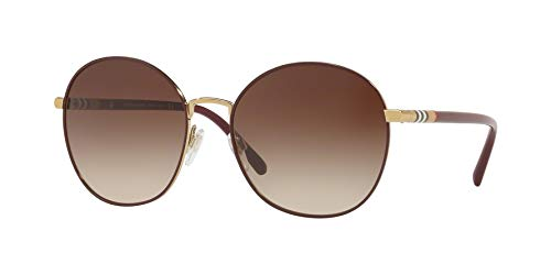 BURBERRY Damen 0Be3094 125613 56 Sonnenbrille, (Gold/Brown)