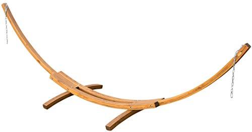 415cm XXL hamac de luxe cadre PANAMA mélèze en bois brun café sans hamac de AS-S
