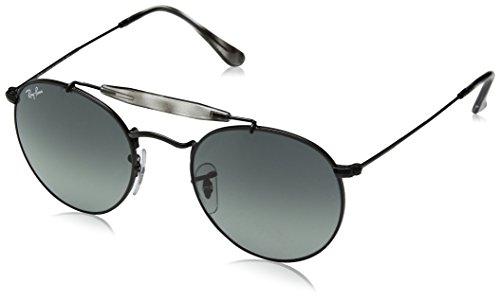 RAYBAN Unisex-Erwachsene Sonnenbrille RB3747, Schwarz (Matte Black/Gradient), 50