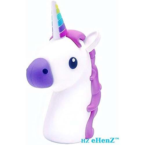 unicornios kawaii eHenZ © 3300 mAh de la batería externa unicornio blanca púrpura rosa banco de energía de la batería de respaldo emoji inteligente sistema de carga de 5 protección de tecnología, 2 cables USB Micro Android, iOS iphone 7,6,5