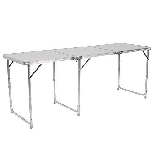 NOBLJX Tragbare Klappbock Tisch, Hochwertige Aluminiumlegierung Rostschutz Picknicktisch Mit Tragegriff Höhenverstellbar Schwere, Leicht Zu Reinigen Für Strand, BBQ