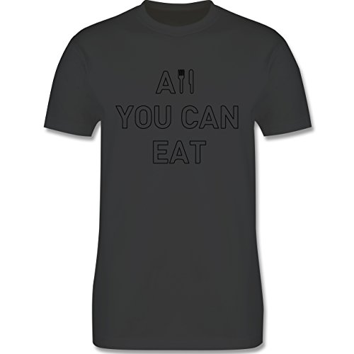 Küche - All you can eat - Herren Premium T-Shirt Dunkelgrau