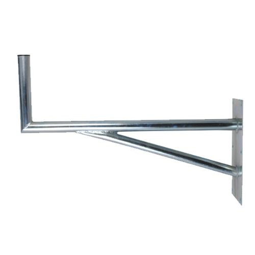 PremiumX 80cm SAT Halterung mit Stütelement Stahl verzinkt Auslegerlänge 800mm Auslegerhöhe 300mm Grundplatte 400x200mm Wand Montage Halter Wandhalter
