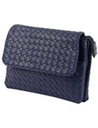 Tamirha Enticing Textured Pattern Navy Blue Sling Bag