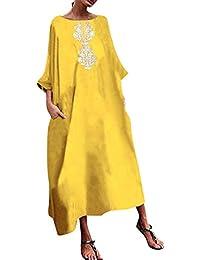 4d575a7c86 Vestiti Donna Eleganti Taglie Forti Estivi DAY8 Sciolto Grande Swing Abito  Elegante Donna Retro Stampa Vestiti