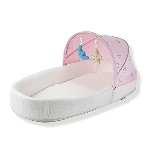 Réducteur de Lit Babynest Baby Nest Pod - Coton Premium Lavable et Respirant - Conçu pour Les Enfants de 0 à 10 Mois - Chaise Longue pour garçon Nouveau-né (Couleur : Pink)