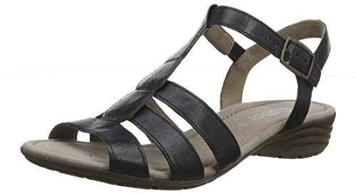 Gabor Shoes Damen Gabor Casual Riemchensandalen, Blau (Ocean 56), 37.5 EU