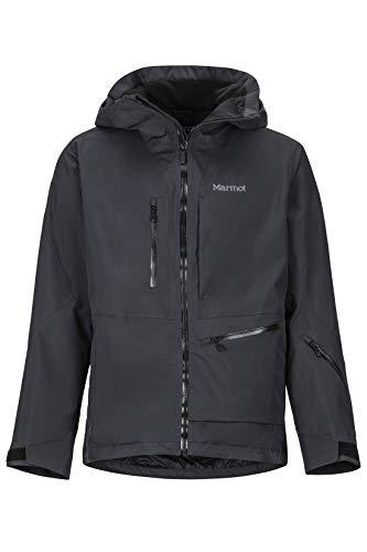 Marmot Refuge Jacket, Giacca da Neve Rigida, Abbigliamento per Sci E Snowboard, Antivento, Impermeabile, Traspirante Uomo, Black, L
