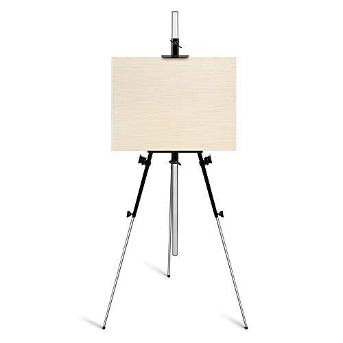 Arrtx Artiste Chevalet - Support en Métal Métal Chevalet d'art - Hauteur Ajustable de 35 '' à 82 '' et 3,3 lb de Poids, Chevalet en fer Ultra épais - Parfait pour l'artiste Voyageur