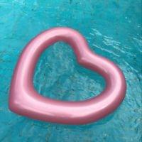 Idea Regalo - Amore cuore Gonfiabile e Galleggiante per Mare e Piscina. Bambini e adulti piscina gonfiabile Amore cuore. Gonfiabile piscina giocattolo Fenicottero di Integrity Co (oro rosa)