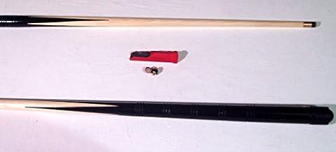 2 x JUNIOR 1 STÜCK 122cm POOL CUES davon 2 Tipps und eine Lederformer SCHLIEßT