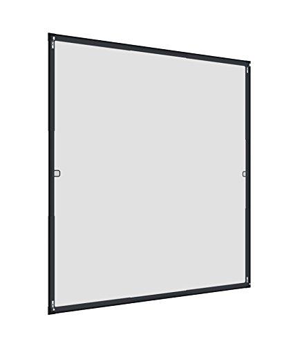 Windhager Insektenschutz teleskopierbares Fliegengitterfenster FLEXI FIT; Teleskopfenster ohne Sägen, 110 x 130 cm, Anthrazit, 03377