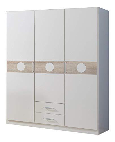 Wimex Kleiderschrank/ Drehtürenschrank Kimba, (B/H/T) 135 x 181 x 58 cm, Weiß -