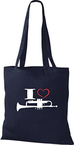 Musica Di Tote Bag Di Shirtstown Amo La Marina Della Tromba