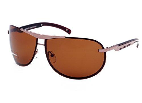 Matrix Pilot Aviator Polarisierte Sonnenbrille für das Heren Fahren, Angeln Hellbraune Gläser Anti Blendung Neues Design