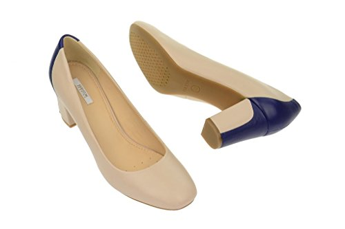 Geox  Geox Symph.Mid - Pump - beige blau - D32W2A, Escarpins pour femme Beige - Beige