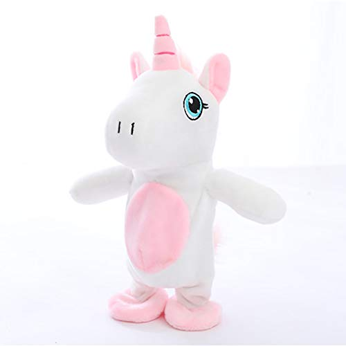 Yisily 1 PC Talking Unicorn Toy Interactivo Juguetes De Peluche para NiñOs NiñAs