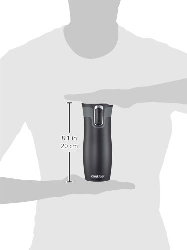 Contigo Autoseal West Loop Stainless Steel Travel Mug, 470 ml – Black Matt
